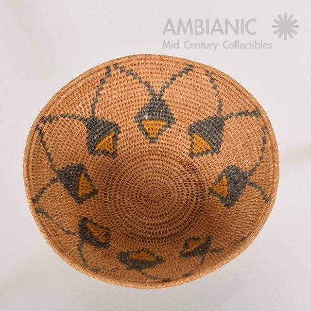 1940s Antique Native American Basket Bowl For Sale - Image 5 of 8