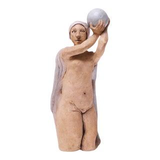 "1973 Studio Ceramic ""Pythia"" Sculpture by Pollack For Sale"