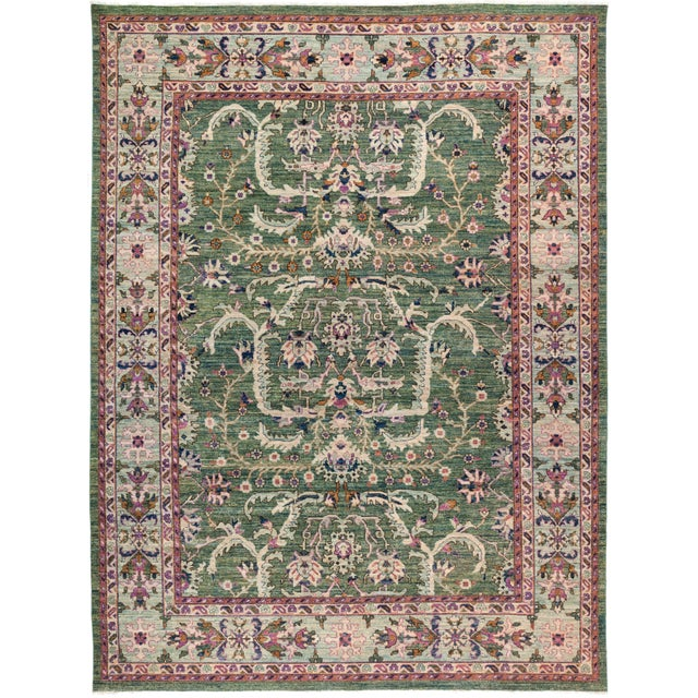 "Eclectic Hand Knotted Area Rug - 9' 0"" X 11' 9"" - Image 4 of 4"