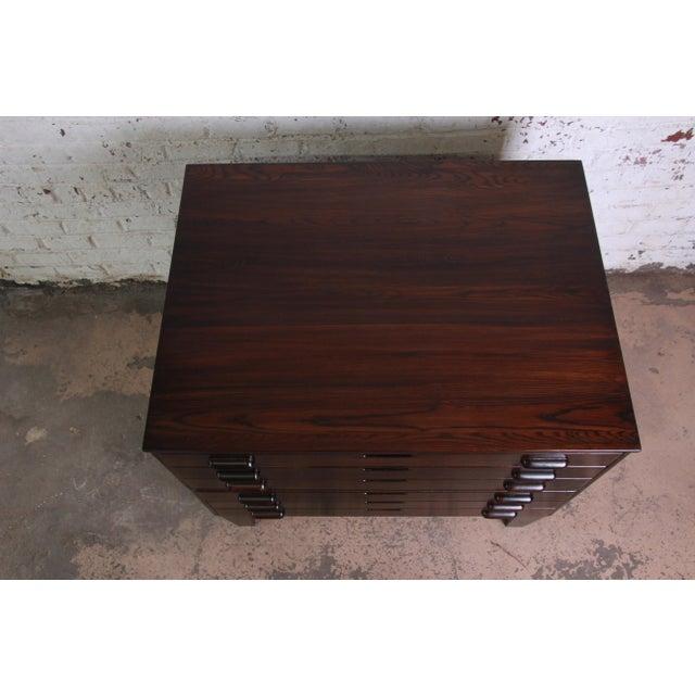 Vintage Dark Oak Blueprint Flat File For Sale In South Bend - Image 6 of 11