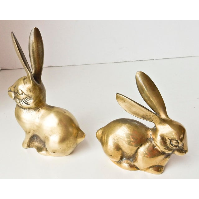 Brass Rabbit Figurines - A Pair - Image 3 of 6