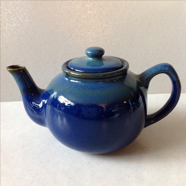 Cobalt Blue Ceramic Teapot - Image 2 of 7