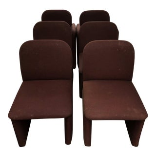 Mid-Century Upholstered Dining Chairs - 6 Pc.
