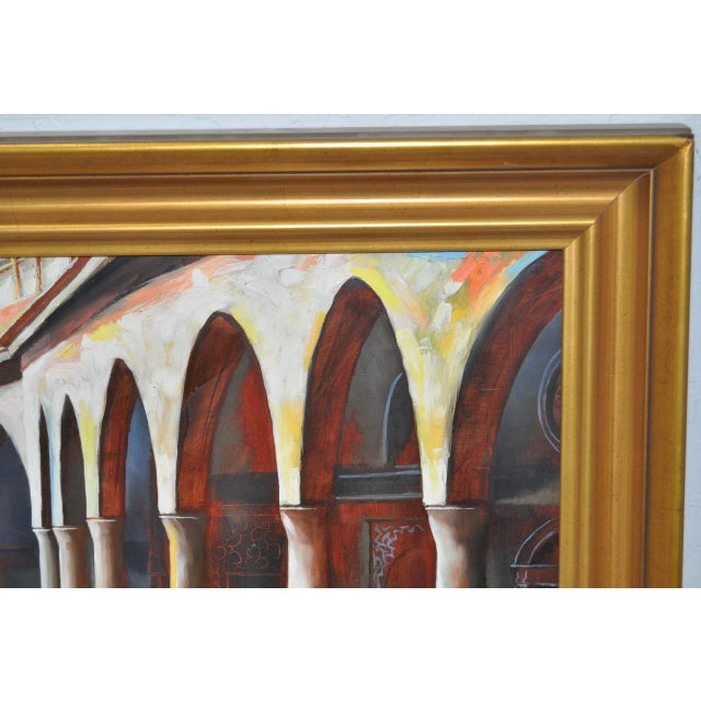"Frank Ashley ""Facade at Santa Cruz"" Original Oil Painting - Image 8 of 11"