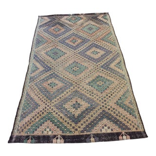 "1960's Turkish Kilim - 6'x11'6"" For Sale"