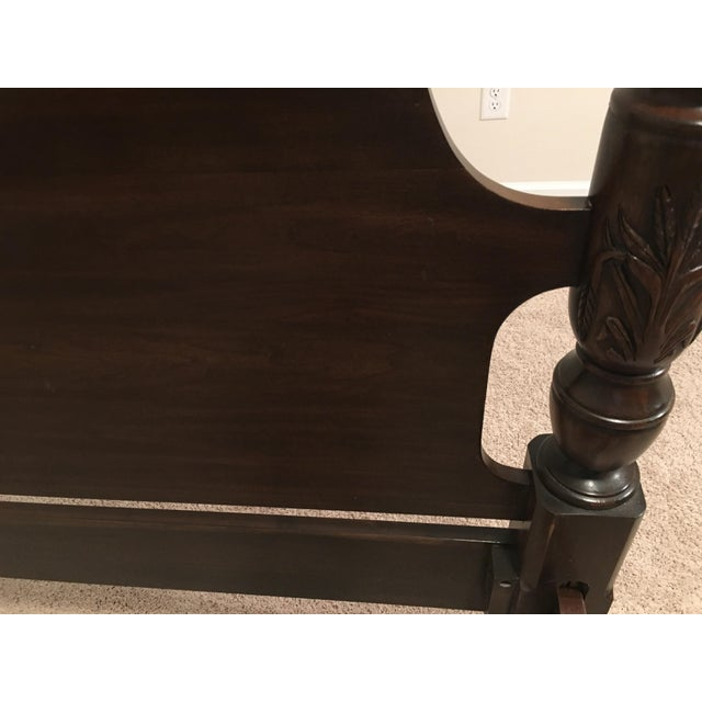 Wood Harden Solid Cherry Four Poster Queen Bedframe For Sale - Image 7 of 10