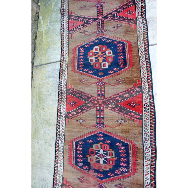 "Vintage Turkish Handknotted Anatolian Tribal Runner-3'4x11'2"" For Sale - Image 4 of 13"