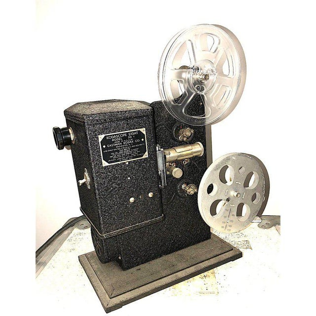 Kodak Movie Projector Circa 1934. Original Black Finish. Correct Art Deco Display Piece For Sale In Dallas - Image 6 of 6
