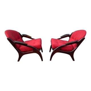 Adrian Pearsall Sculptural Lounge Chairs For Sale