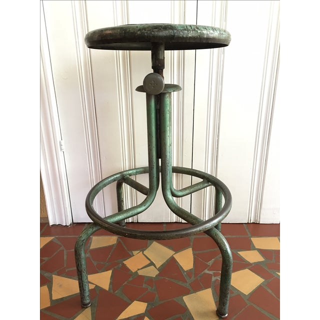 Industrial Green Barstool - Image 2 of 6