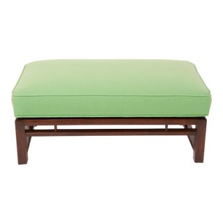 Mid-Century Modern Upholstered Bench Attributed to Edward Wormley for Dunbar For Sale