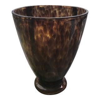 Mid-Century Modern Tortoise Glass Vase For Sale