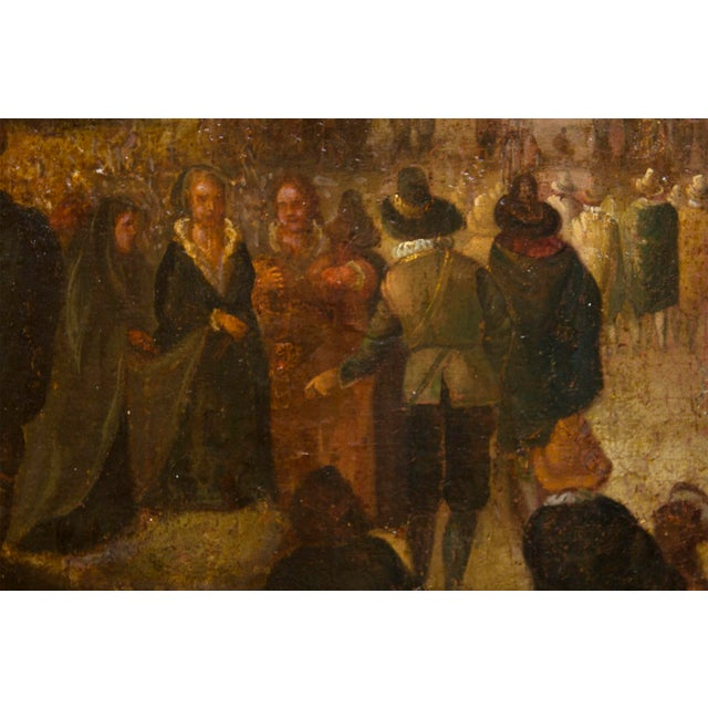 Mediterranean 17th Century European Landscape Fantastic Painting of a Festival For Sale - Image 3 of 5