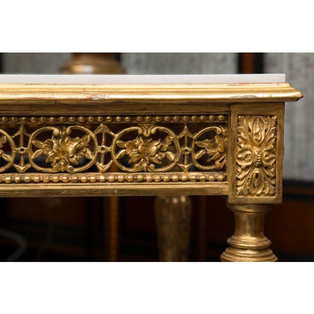 Giltwood 19th Century Louis XVI Style Giltwood Centre Table For Sale - Image 7 of 7