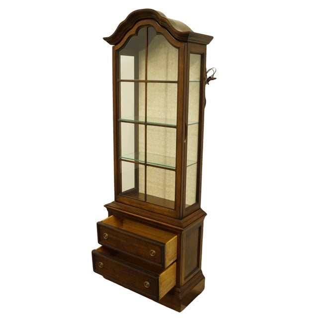 """20th Century French Country Brandt 25"""" Illuminated Curio Display Cabinet With Bonnet Top For Sale In Kansas City - Image 6 of 13"""