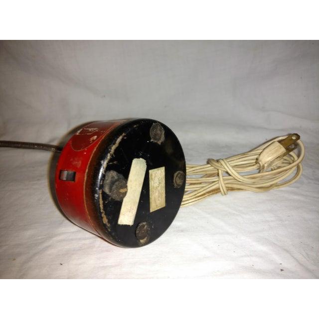Metal Industrial Mini Orange Work Lamp For Sale - Image 7 of 9