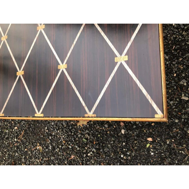Amy Howard Inlaid Wood Coffee Table For Sale - Image 11 of 12