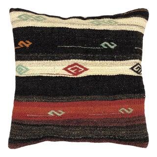 "MidCentury Stripe Vintage Kilim Pillow | 20"" For Sale"