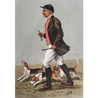 Original 1902 Vanity Fair Fox Hunting Print ~ J. Otho Paget With Beagles For Sale