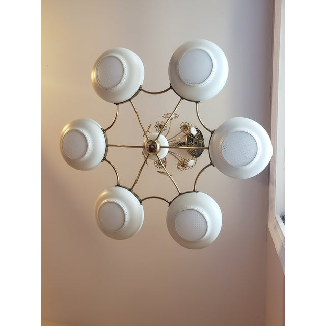 Lightolier 1950s Mid-Century Modern Lightolier Chandelier After Paavo Tynell For Sale - Image 4 of 13