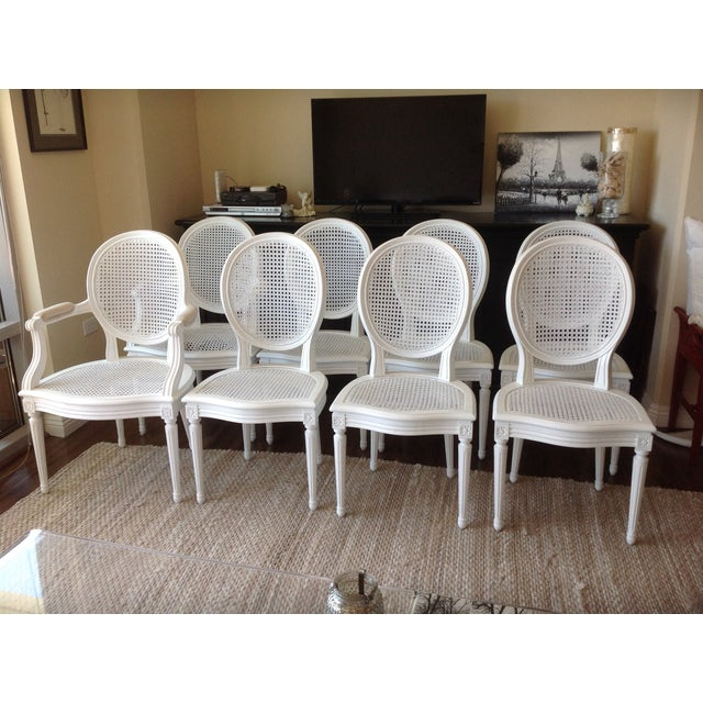 Louis XVI Dining Chairs - Set of 8 - Image 2 of 7
