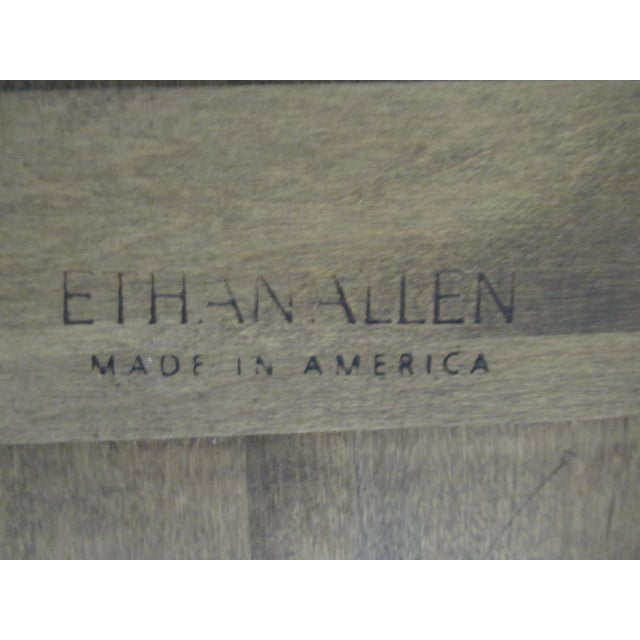 Brown French Country Ethan Allen Dining Room Banquet Table For Sale - Image 8 of 12
