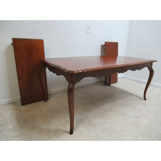French Country Ethan Allen Dining Room Banquet Table Preview