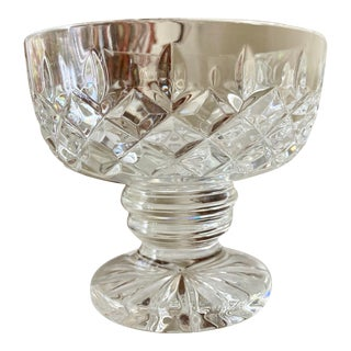 """Waterford Crystal """"Clara"""" Criss-Cross-Vertical Footed Bowl For Sale"""