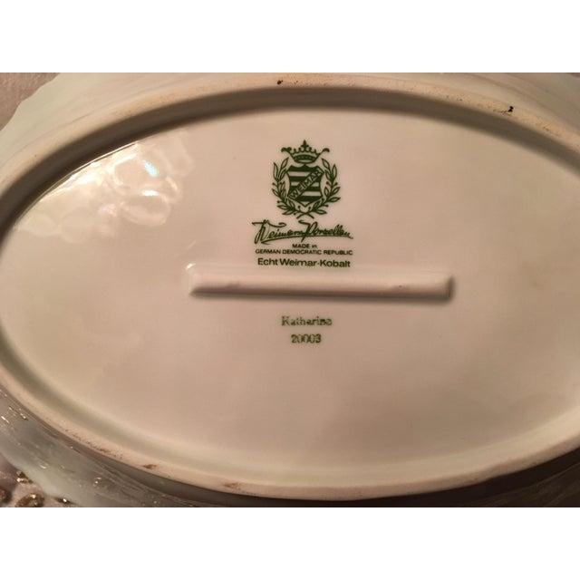 German Oval Serving Platter For Sale - Image 5 of 6