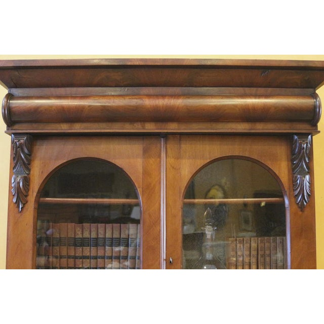 Green 19th Century Victorian Mahogany Display Cabinet For Sale - Image 8 of 10