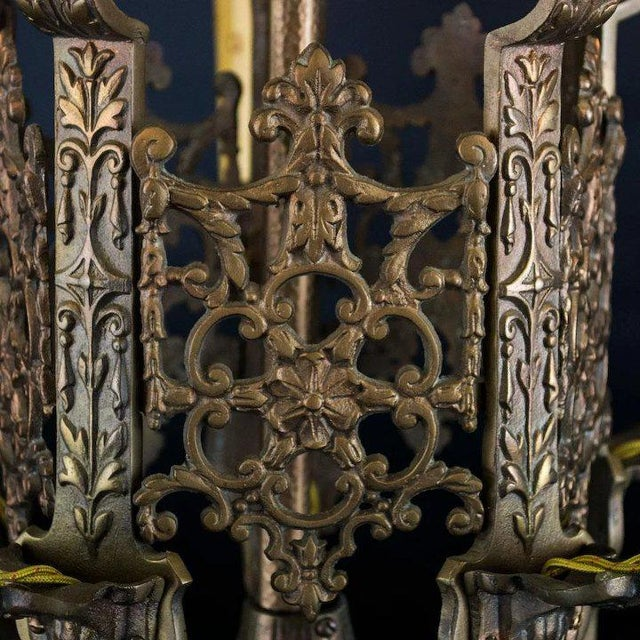 American Late 1920's American Five Light Chandelier For Sale - Image 3 of 8