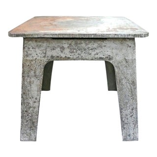Steel Industrial Side Table For Sale