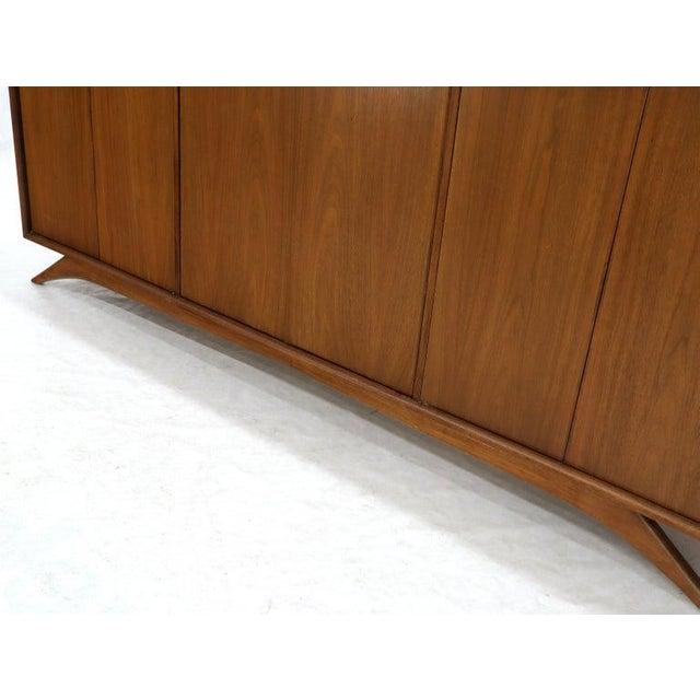 Mid-Century Modern Swivel Centre Bar Walnut Mid-Century Modern Credenza Sideboard Sculptural Legs For Sale - Image 3 of 13