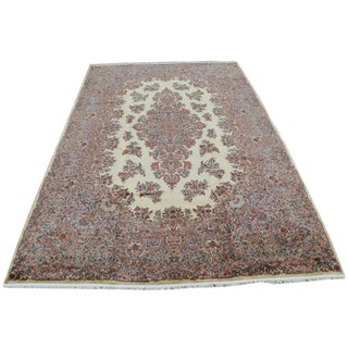 "1950's Vintage Karastan Kerman Floral Rug-11'4""x17'10"" For Sale"