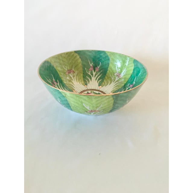 Art Deco Vintage Chinoiserie Bowl Made for Lord and Taylor For Sale - Image 3 of 9