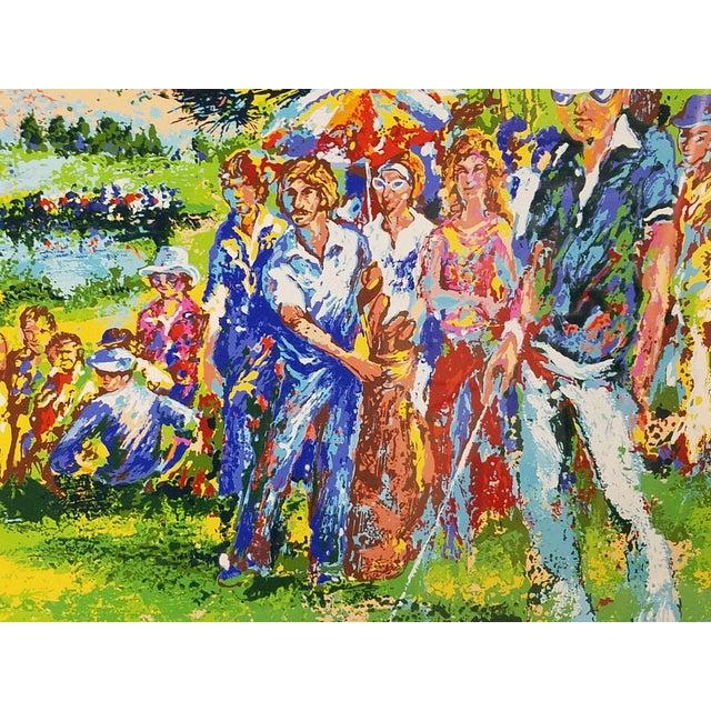 Leroy Neiman 1970 Palm Beach Golf Classic, Fine Art Serigraph Silkscreen, Leroy Neiman Style by Mark King For Sale - Image 4 of 6