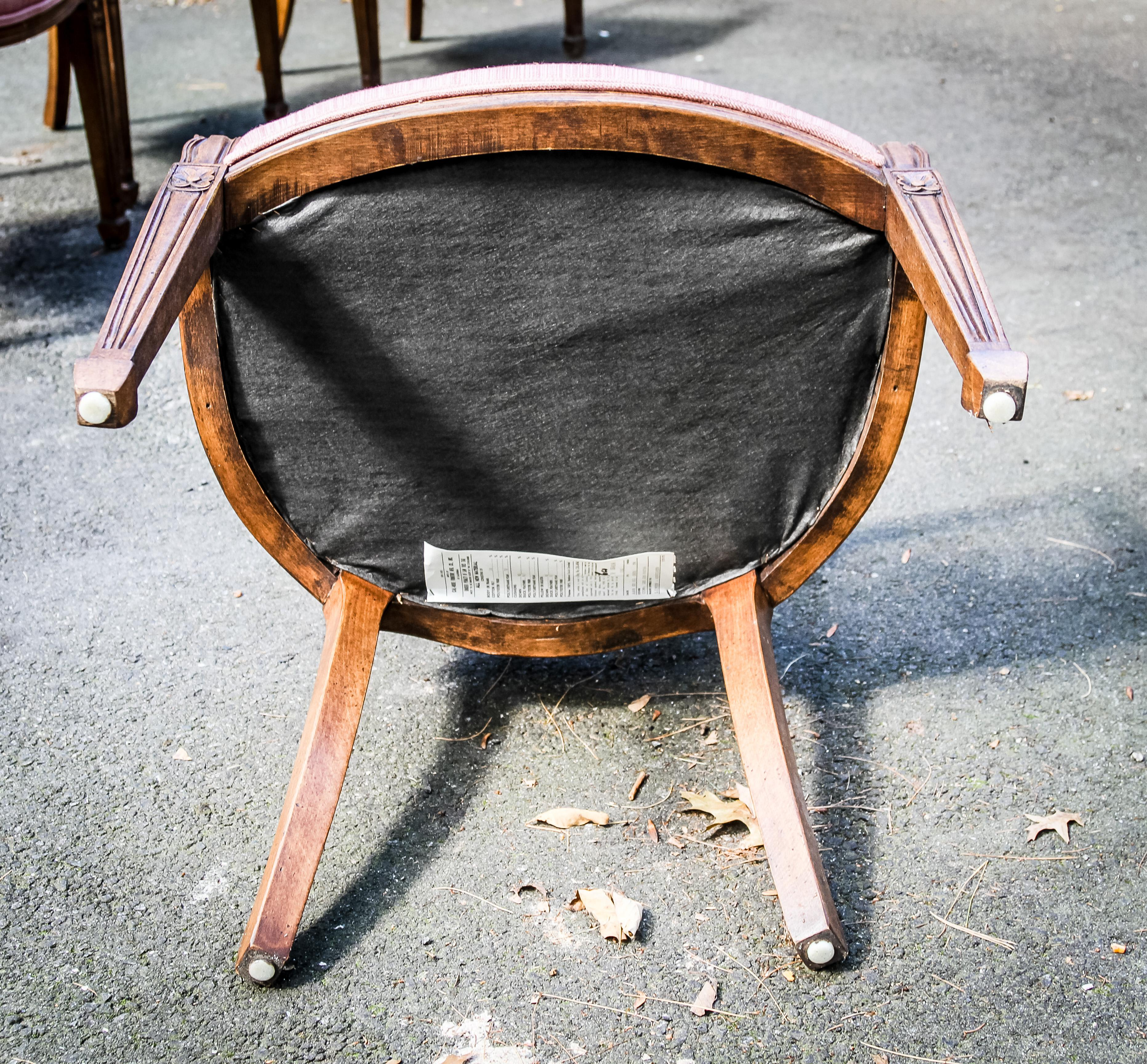 1930s Antique Cal Mode Dining Room Chairs   Set Of 8   Image 6 Of