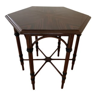Traditional Hexagonal Side Table For Sale