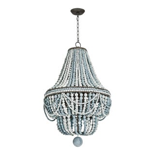 Malibu Chandelier (Weathered Blue) For Sale