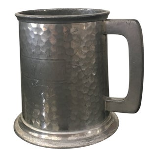Vintage English Pewter Tankard For Sale