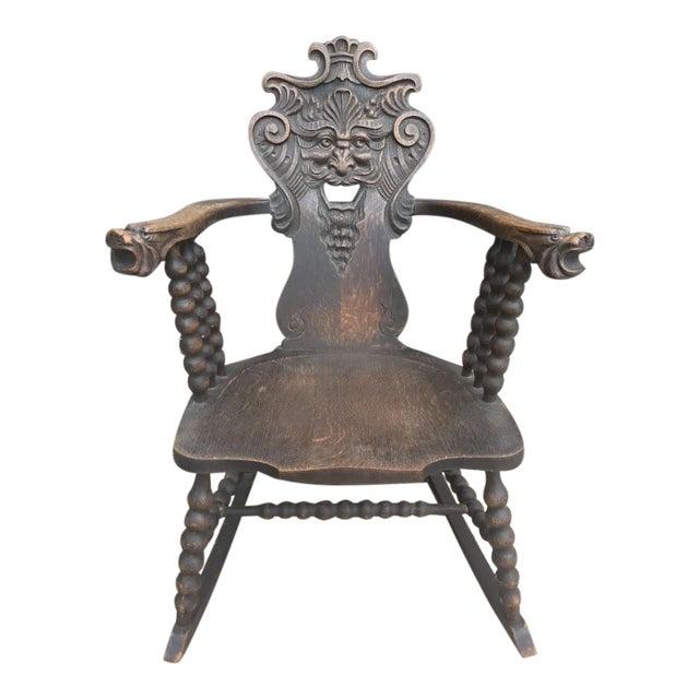 Marvelous Antique Green Man Rocking Chair C 1800 Theyellowbook Wood Chair Design Ideas Theyellowbookinfo