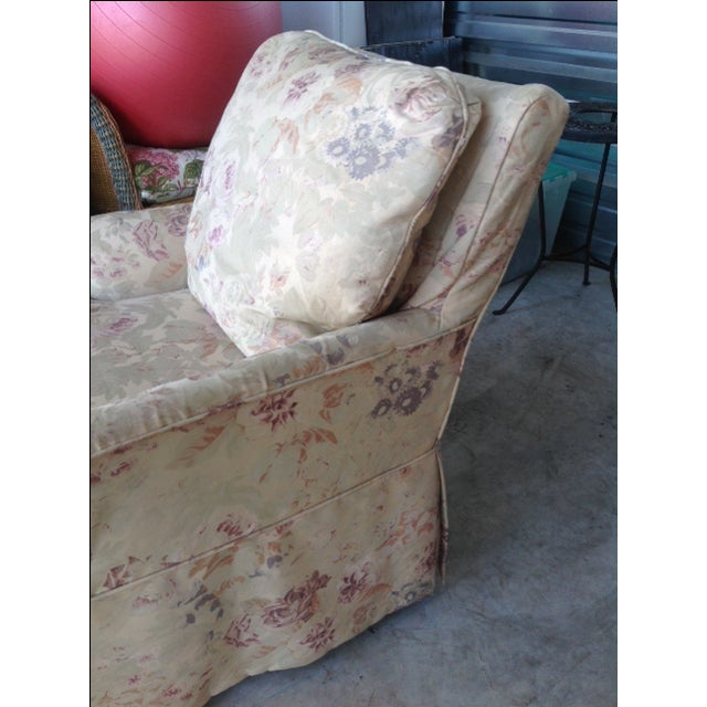 Vintage 1930s Floral Chaise - Image 7 of 7