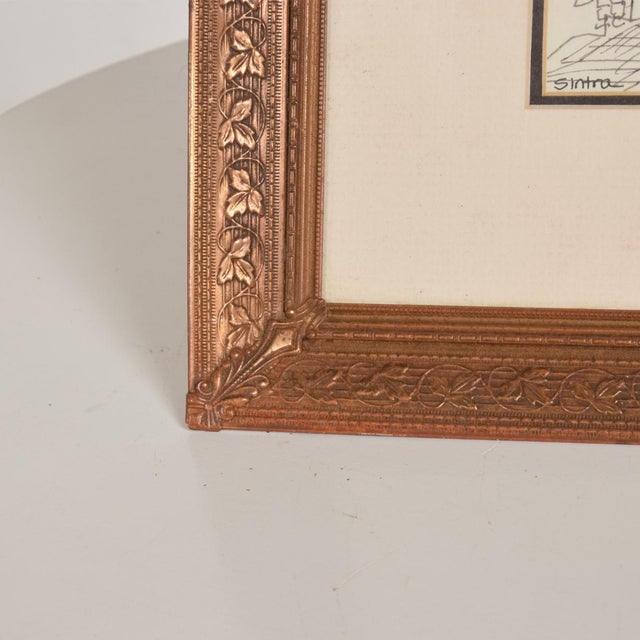 Art Deco Period Brass Picture Frame , Grapevine Ornamentation For Sale In San Diego - Image 6 of 10