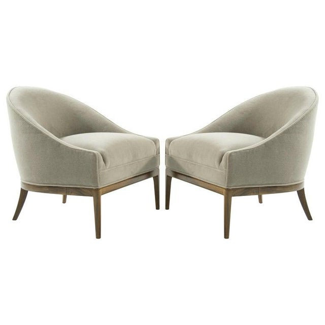 Mid-Century Modern Lounge Chairs in Mohair, 1950s For Sale - Image 13 of 13