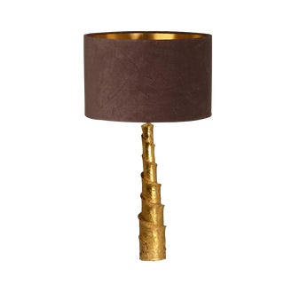 Architectural Brass Table Lamp
