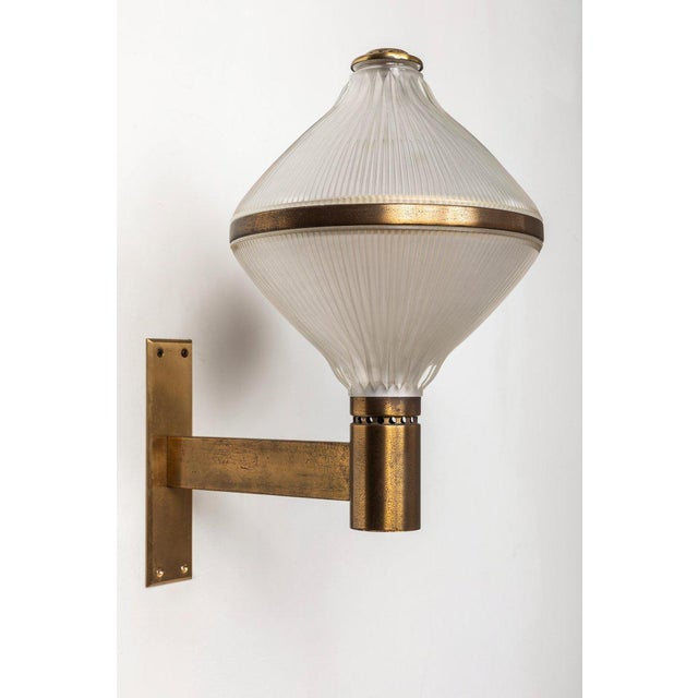 Mid-Century Modern Large 1960s Studio B.B.P.R Brass Sconce For Sale - Image 3 of 13