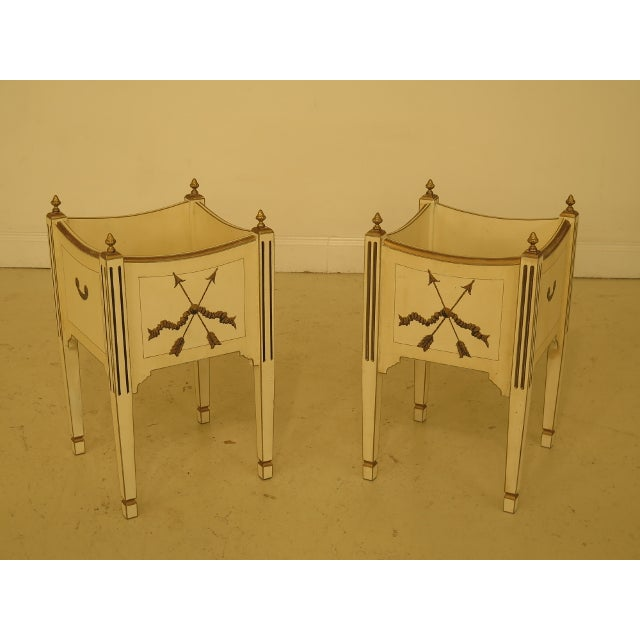1970s Vintage Regency Style Planters - A Pair For Sale - Image 12 of 12