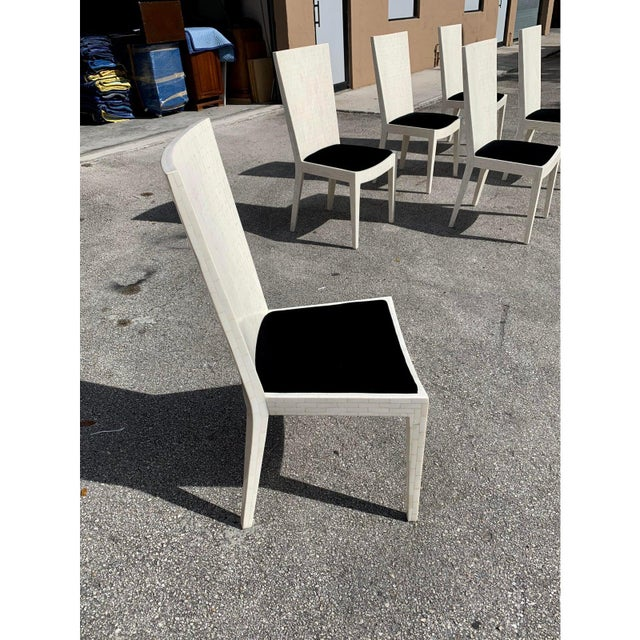 1970s Enrique Garcel Tessellated Bone Dining Chairs - Set of 6 For Sale - Image 11 of 13