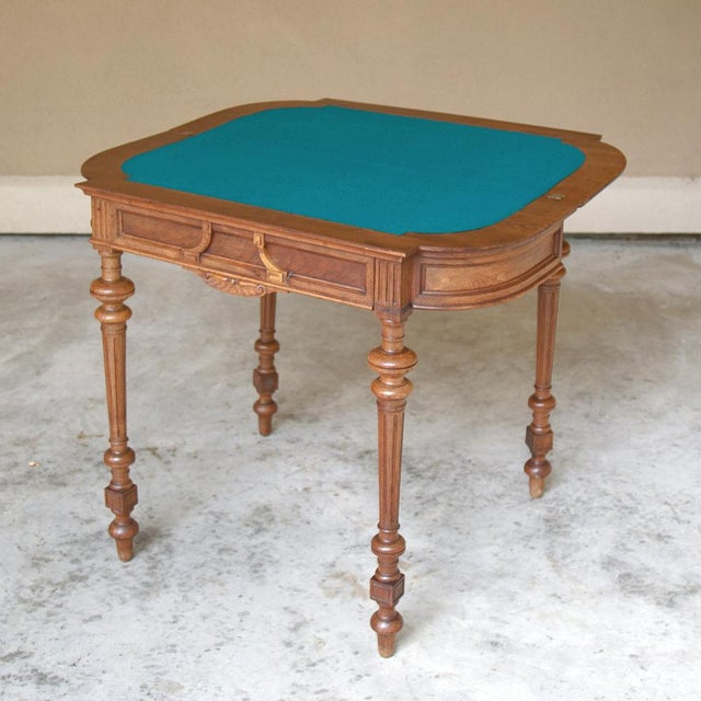 Late 19th Century 19th Century French Henri II Walnut Game Table ~ Console For Sale - Image 5 of 13