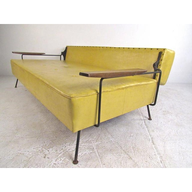 Richard McCarthy for Selrite Mid-Century Vinyl Daybed - Image 3 of 10